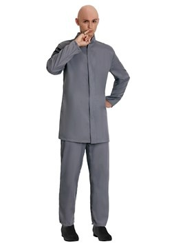 Disfraz de traje gris adulto de lujo
