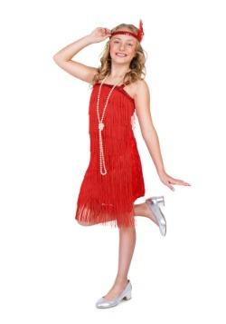 Disfraz de aleta roja de niña