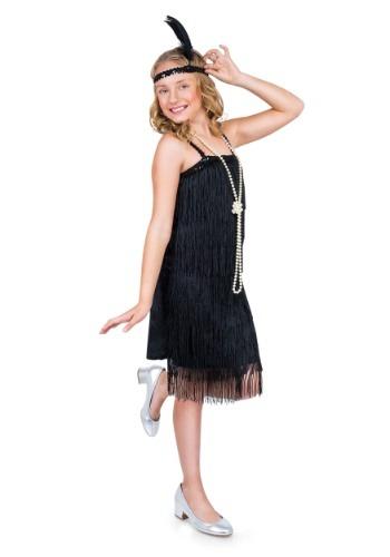 Disfraz para niñas estilo Flapper negro
