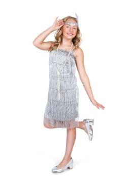 Disfraz para niña con solapa plateada