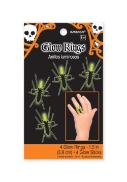 Bolsa de anillos Glow Spider (4 por paquete)