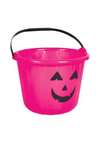 Cubo para dulces de calabaza rosa
