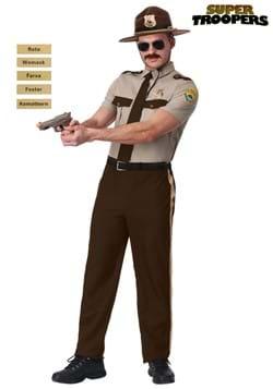 Disfraz policía estatal de Super Troopers adulto talla extra