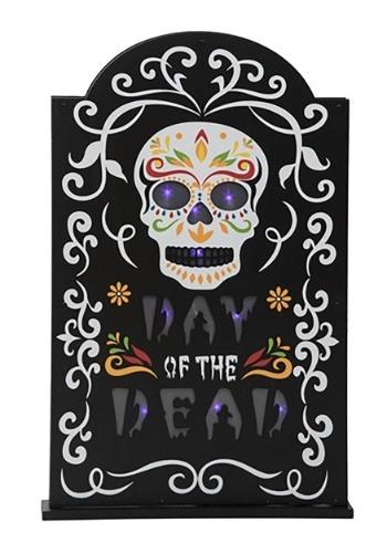 Decoración de tumba de Día de Muertos con luz