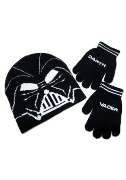 Kit de gorro y guantes de punto de Darth Vader de Star Wars