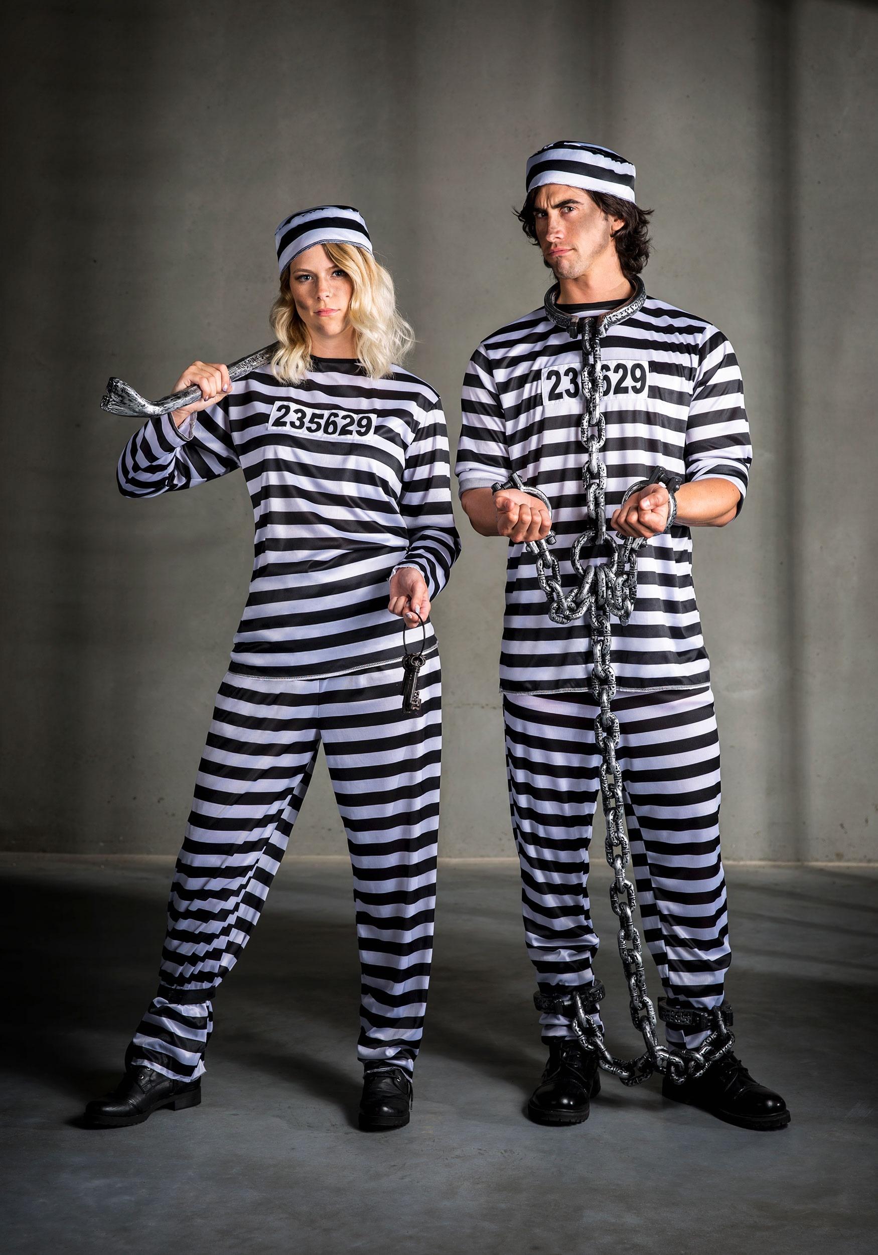 Disfraz de prisionero para hombre talla extra