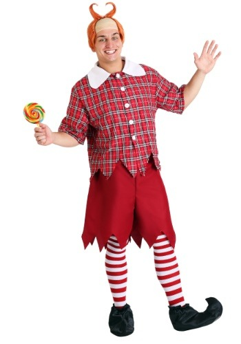 Disfraz de Munchkin rojo talla extra