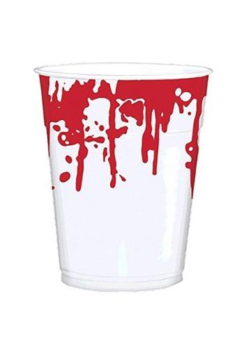 Vaso 16 oz. fiesta de Halloween estampado mano sangrienta