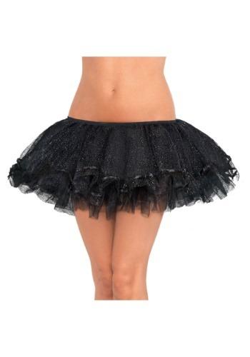 Tutú Shimmer negro talla grande para mujer