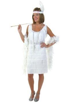 Disfraz de chica Flapper blanca talla extra