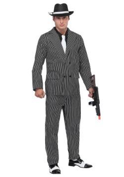 Disfraz de gángster a rayas talla extra