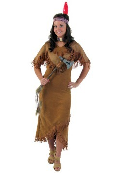 Disfraz de indio de mujer de talla grande
