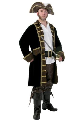 Disfraz de pirata realista para hombre talla extra