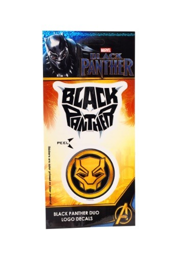 Marvel Black Panther Logo Duo 4x8 Calcomanía