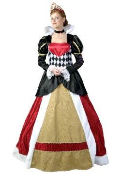 Disfraz de Reina de Corazones Elite talla extra