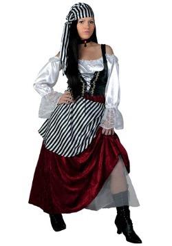 Disfraz de moza pirata deluxe talla extra