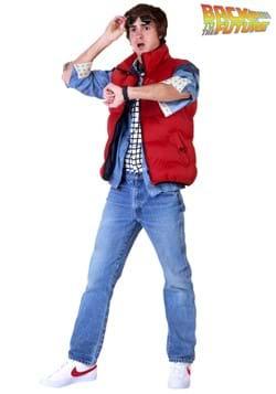 Regreso al futuro Marty McFly Disfraz de talla grande para h