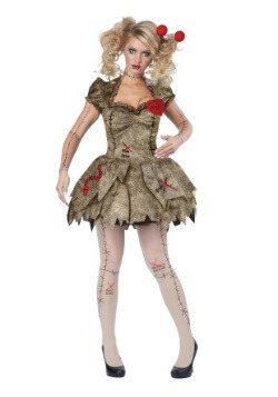 Disfraz de muñeco vudú para mujer