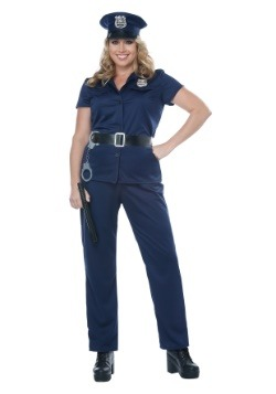 Disfraz de mujer policía talla grande