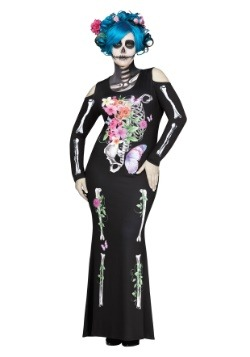 Disfraz de Huesos hermosos talla grande para mujer