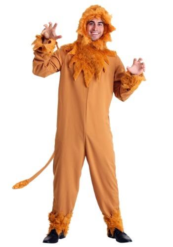 Disfraz de león cobarde talla grande para hombre