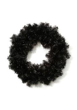 """Corona de Halloween negra de 20 """""""