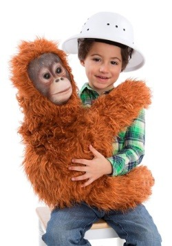 Disfraz de marioneta de abrazos orangután para niños