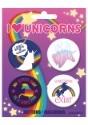 "Set de 4 botones ""I Love Unicorns"""