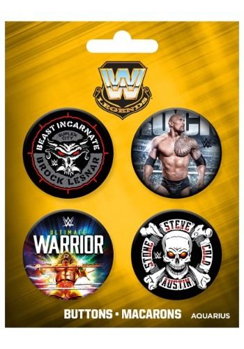 Conjunto de botones de 4 pares de WWE Legends