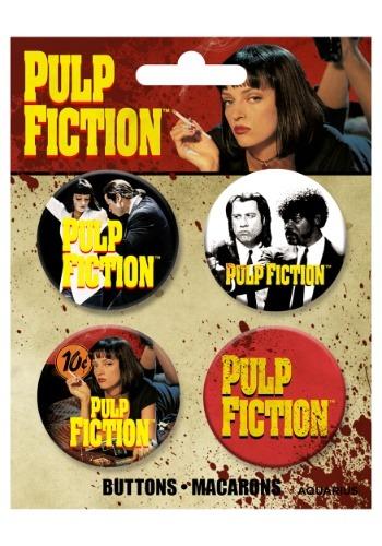 Conjunto de botones Pulp Fiction de 4 paquetes