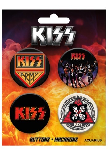 Juego de botones KISS de 4 paquetes