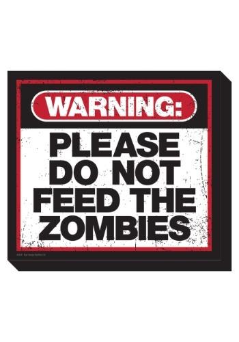 Imán de 'Por favor, no alimente a los zombis'