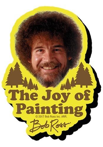 Bob Ross La alegría de pintar Funky Chunky Magnet