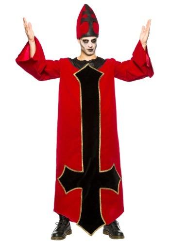 Disfraz de obispo malvado para hombre