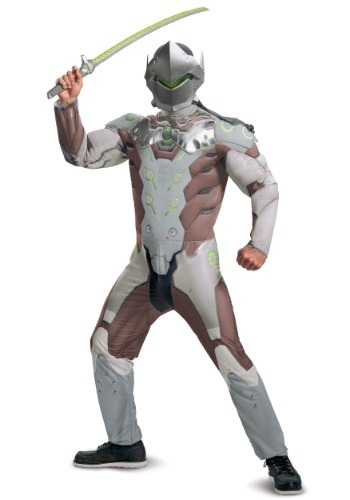 Disfraz para adulto Overwatch Genji musculoso