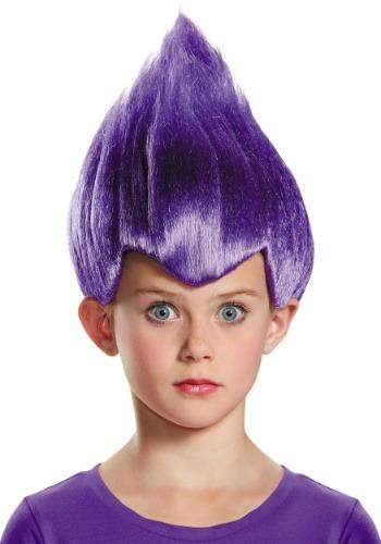 Peluca Wacky púrpura infantil