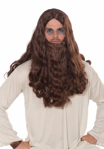 Guru-vy peluca larga y barba