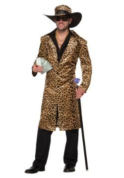 Disfraz de chulo estampado de leopardo para hombre