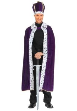 Conjunto de túnica y corona púrpura de King