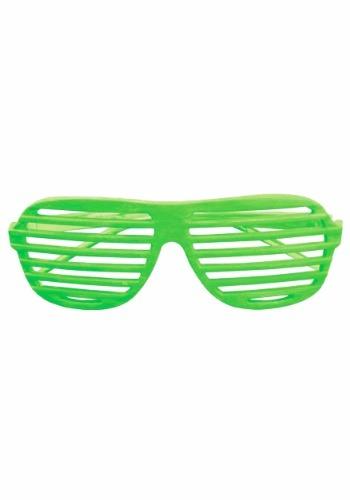 Gafas de ranura verde neón