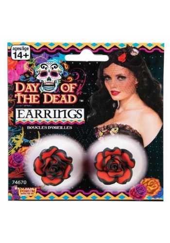 Pendientes Rose Day of the Dead