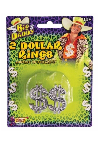 Anillos de signo del dólar de proxeneta