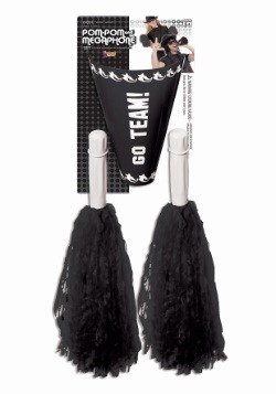 Cheerleader Pom Pom y megáfono - Negro