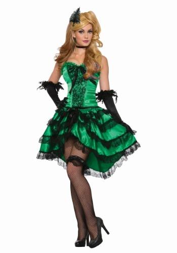 Disfraz para mujer Emerald Saloon Girl