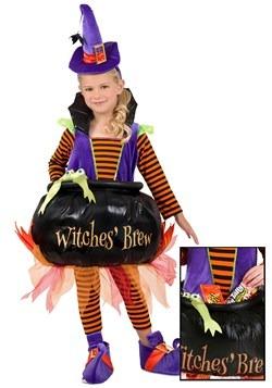 Disfraz de bruja de caldero infantil