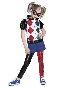 Disfraz de Harley Quinn premium de superhéroe chica de DC