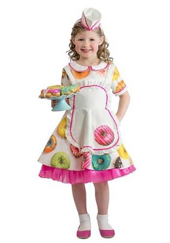 Disfraz de camarera Donut para niños pequeños