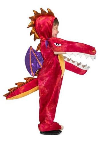 Disfraz infantil de dragón rojo mordelón