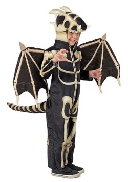 Disfraz de dragón de esqueleto infantil