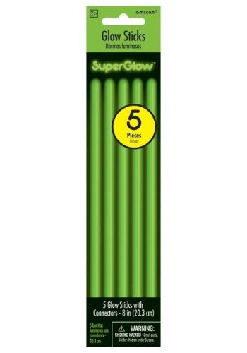 """Glowsticks verdes - 8 """"paquete de 5"""